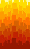 Color city. Layered modern city in different colors Stock Photography