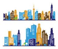 Color city Royalty Free Stock Images