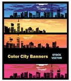 Color city banner Royalty Free Stock Photo