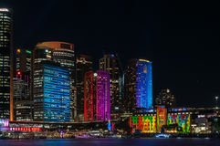 Color in the City -Vivid Sydney Royalty Free Stock Image