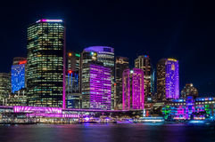 Color in the city - Vivid Sydney Royalty Free Stock Photography