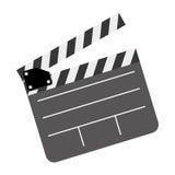 Color clapper board film icon Royalty Free Stock Photos
