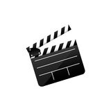 Color clapper board film icon. Illustraction design image Royalty Free Stock Photos