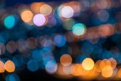 Color claro de Bokeh borroso Imagen de archivo