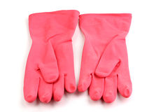 Color cleaning gloves Stock Photo