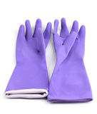 Color cleaning gloves Stock Photos