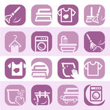 Color cleaning and washing icons Royalty Free Stock Photo