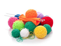 Color clews for knitting Stock Photography