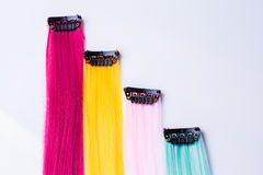 Color clip in hair Royalty Free Stock Photography