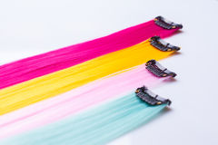Color clip in hair Stock Photography