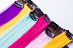 Color clip in hair Royalty Free Stock Photos
