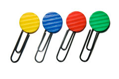 Color clips. On white background Royalty Free Stock Photo