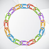 Color clips frame. Royalty Free Stock Image