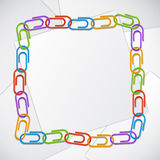 Color clips frame. Stock Photo