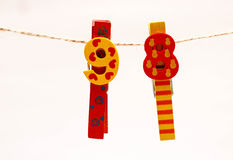 Color clips. 69 on some colorful clips royalty free stock photos