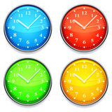 Color clock. Four clock with color clock faces Stock Image