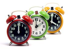 Color clocks Royalty Free Stock Image