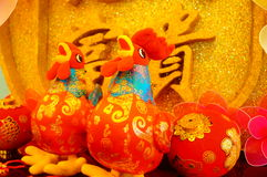 Color cloth toy chicken sculpture festive supplies Stock Photography