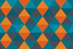 Background abstract texture orange old blue banner triangle wallpaper modern. Color for cloth, vector design. Background abstract texture orange old blue banner stock illustration