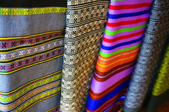 Color of cloth woven from Laos Stock Image
