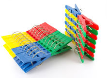 Color clothes-pegs Royalty Free Stock Image