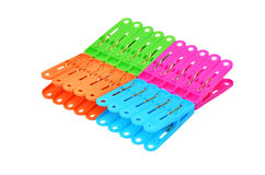 Color clothes pegs Royalty Free Stock Photo