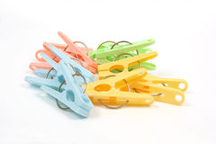 Color clothes - pegs Royalty Free Stock Photography