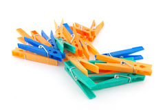 Color clothes-pegs Stock Photography