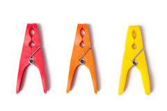 Color clothes pins Royalty Free Stock Photo