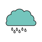 color cloud rainning icon Royalty Free Stock Photo
