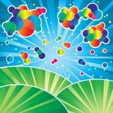Color clouds vector illustration