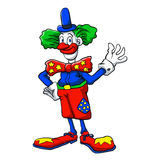 Color clown cartoon Stock Images