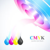 Color of cmyk flow Stock Photography