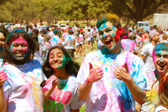 Color coated friends Spring Festival Royalty Free Stock Image