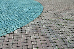 Color cobblestone pavement Royalty Free Stock Images