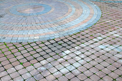 Color cobblestone pavement Stock Photos
