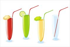 Color cocktail in high glasses Stock Image