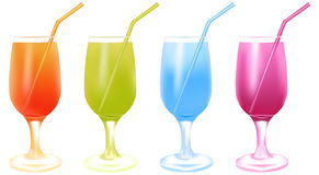 Color cocktails Stock Photography