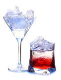 Color cocktails in ice Stock Photos