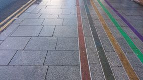 Color coded pathways royalty free stock photos
