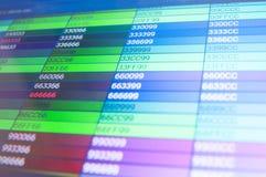 Color codes Stock Photos