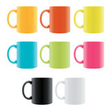 Color Coffee Cup Stock Image