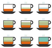 Color Coffee cup Stock Images