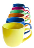Color coffee cups Stock Image