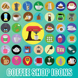 Color coffee icons 2 Stock Photography