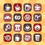 Color  coffee icons Royalty Free Stock Image