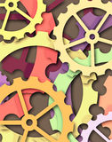 Color cogs Stock Photos
