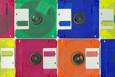 Color collage  micro disc Stock Image