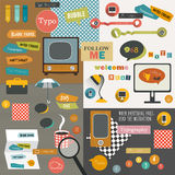 Color collage of stickers. Stock Images