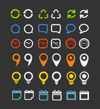 Color collection of web icons Royalty Free Stock Images